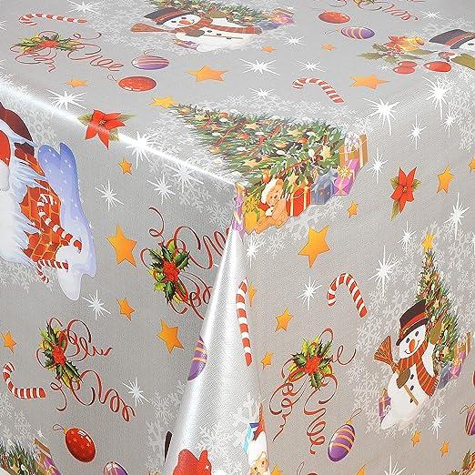 KEVKUS 01188-02 - Hule para Mesa, diseño de muñeco de Nieve, árbol ...