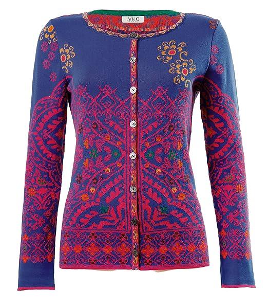 Amazon.com: ivko lana chaqueta de punto, patrón de Marruecos ...