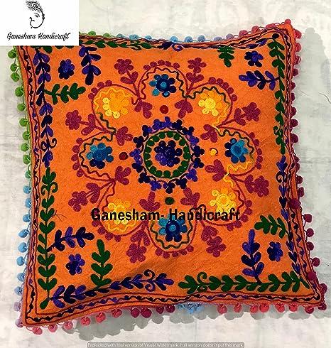 decorative boho accent unique pretty patchwork 16x16.htm amazon com indian home decor floral cotton accent pillow case  amazon com indian home decor floral