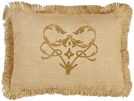 Amazon.com: zentique único Burlap almohada con pincel de ...
