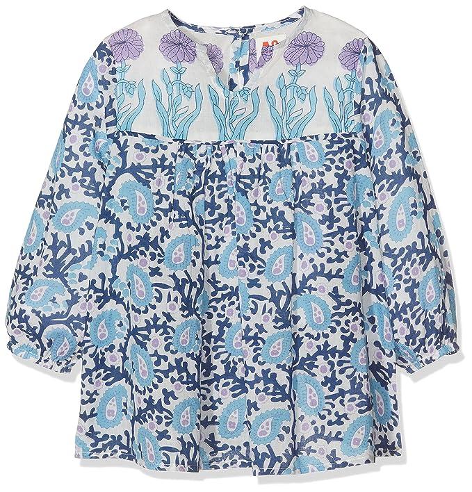 AO 76 Abigail Wide Shirt, Camisa para Niñas, Azul (Blue 785),