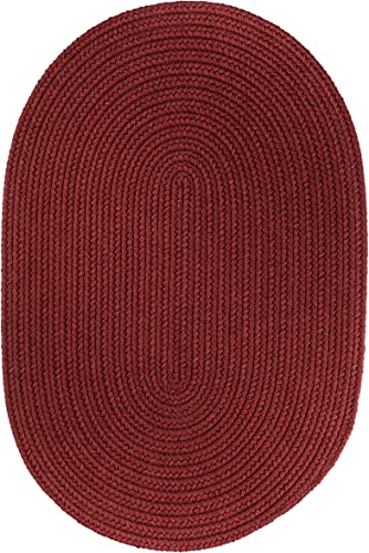 Solid Rug, 4 by 6-feet, Colonial Red
