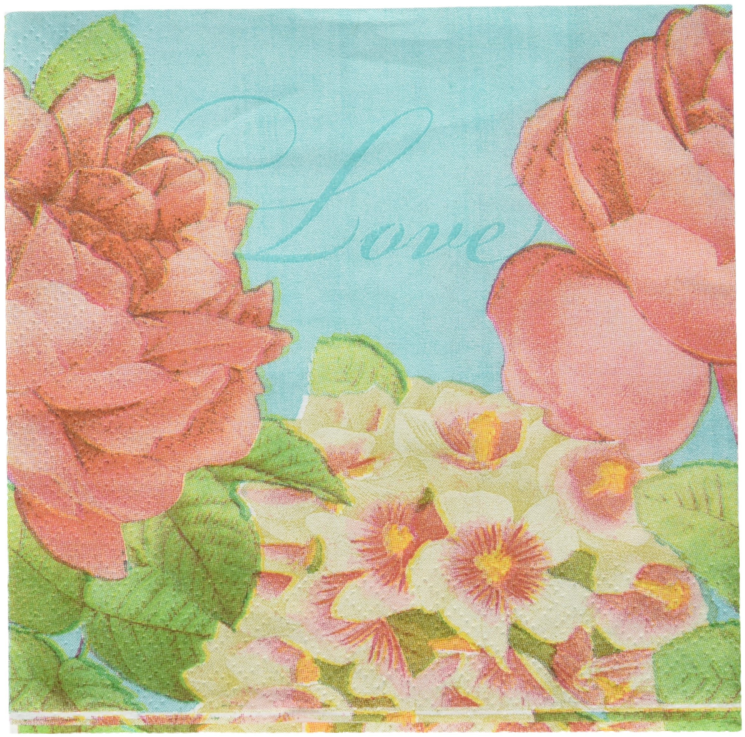 Amscan Blissful Blooms Beverage Napkin Floral Garden 5'' x 5'' Pack 36 Childrens Party (432 Piece)