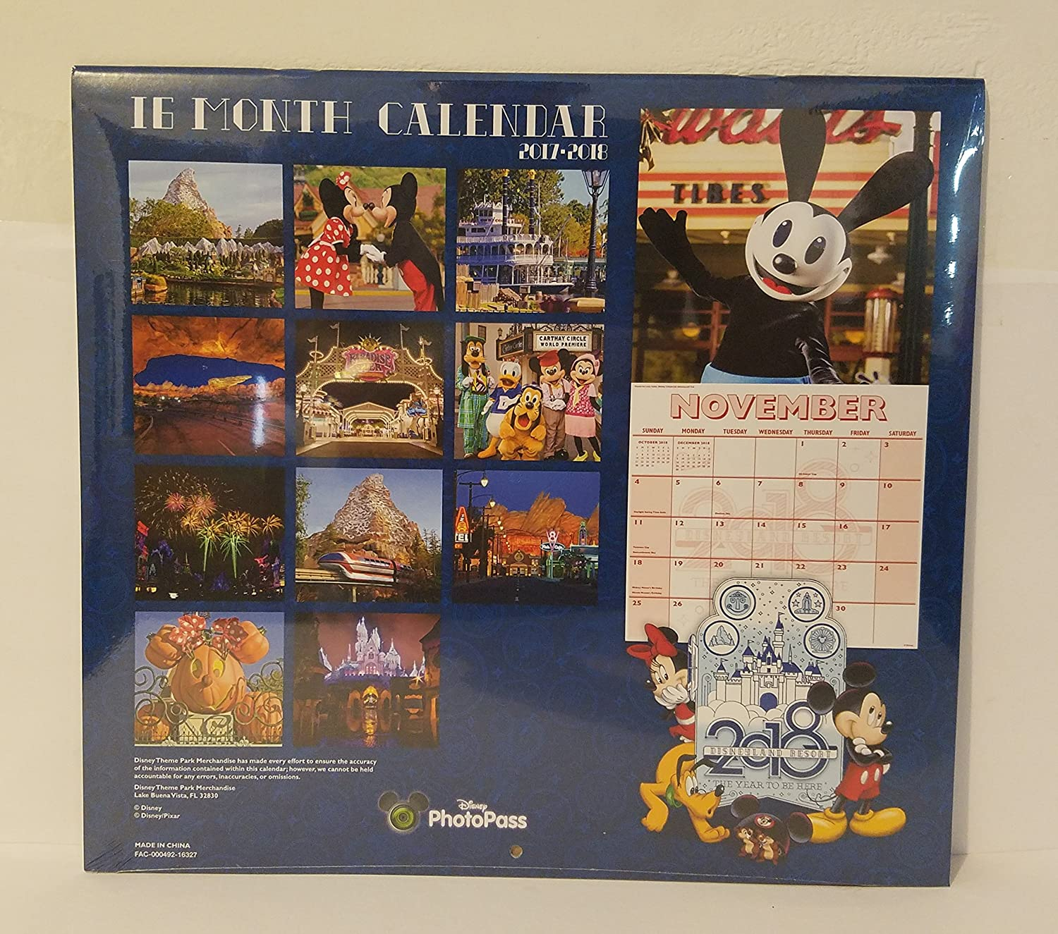 Amazon Com Disneyland Resort 2018 16 Month Calendar Everything Else