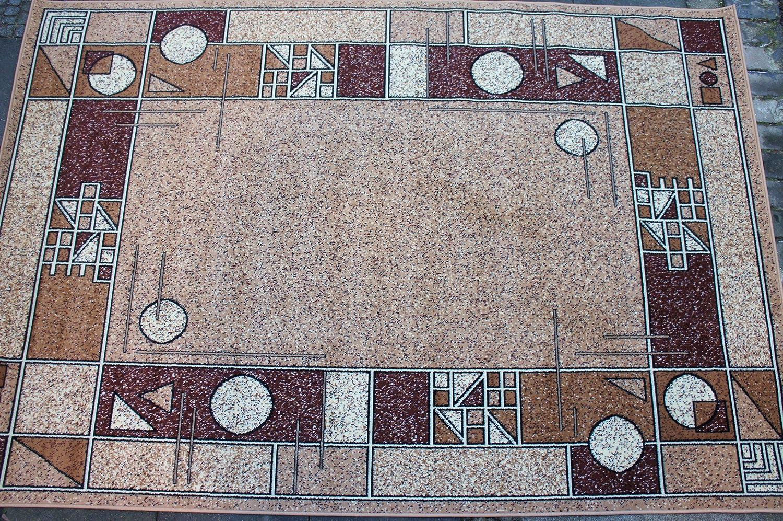 Karatcarpet Moderner Teppich Kurzflor Kollektion Gold 091 12 Hell Braun, Beige, Creme, Meliert, Muster  Geometrisch. (300x400 cm)