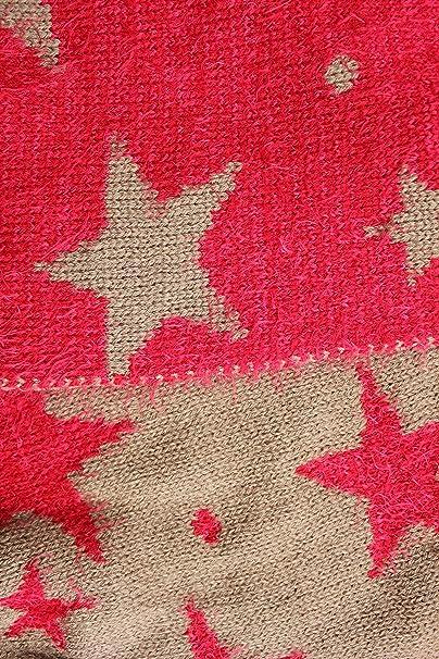 FERETI Souple écharpe Avec étoiles Rouge Khaki Etole Tube Circulaire  Foulard Tricot Ronde Snood  Amazon.fr  Vêtements et accessoires 11385c374ce