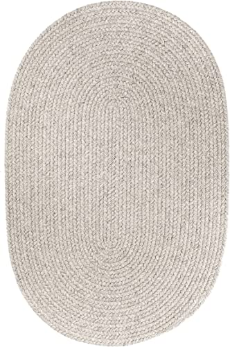 Solid Wool Rug, 5 by 8-feet, Light Gray