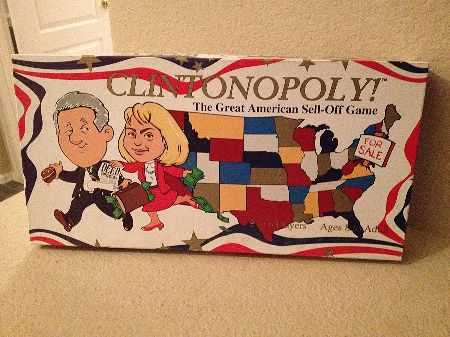 seguro de calidad Clintonopoly The Great American American American Sell-off Game by U.S.A.OPOLY, Inc.  Tienda de moda y compras online.