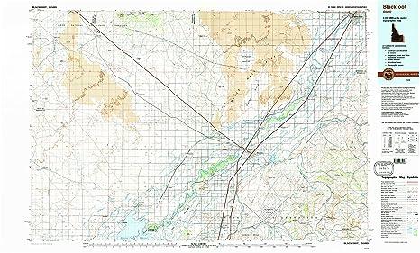 Amazon.: YellowMaps Blackfoot ID topo map, 1:100000 Scale, 30