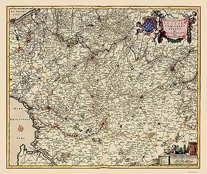 Amazon Com Old Europe Map Artois Province France Belgium