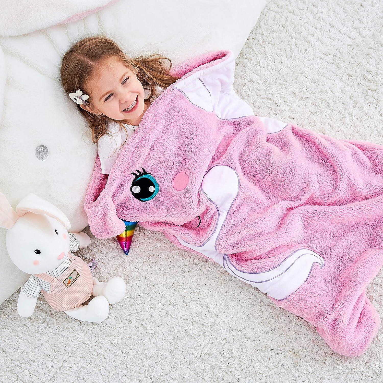 Rainbow Unicorn Play Pillow Foldable Soft Cartoon Animal Sleeping Bag for Boys Girls Gift BSTOB Fun Sleeping Bag For Kids