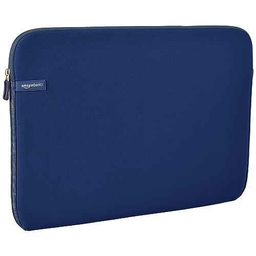 """AmazonBasics Housse pour ordinateur portable 17,3"""" - Bleu marine"""