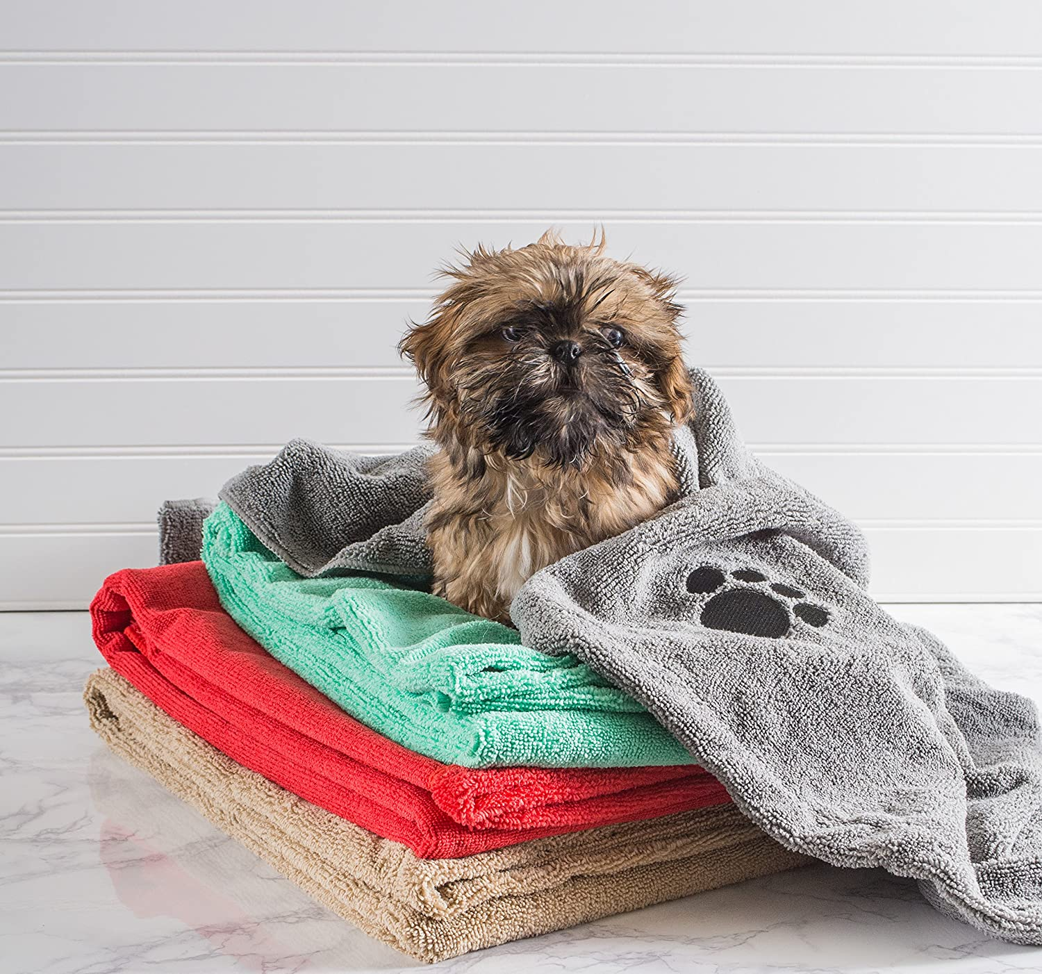 Bone Dry Microfiber Pet Bath Towel