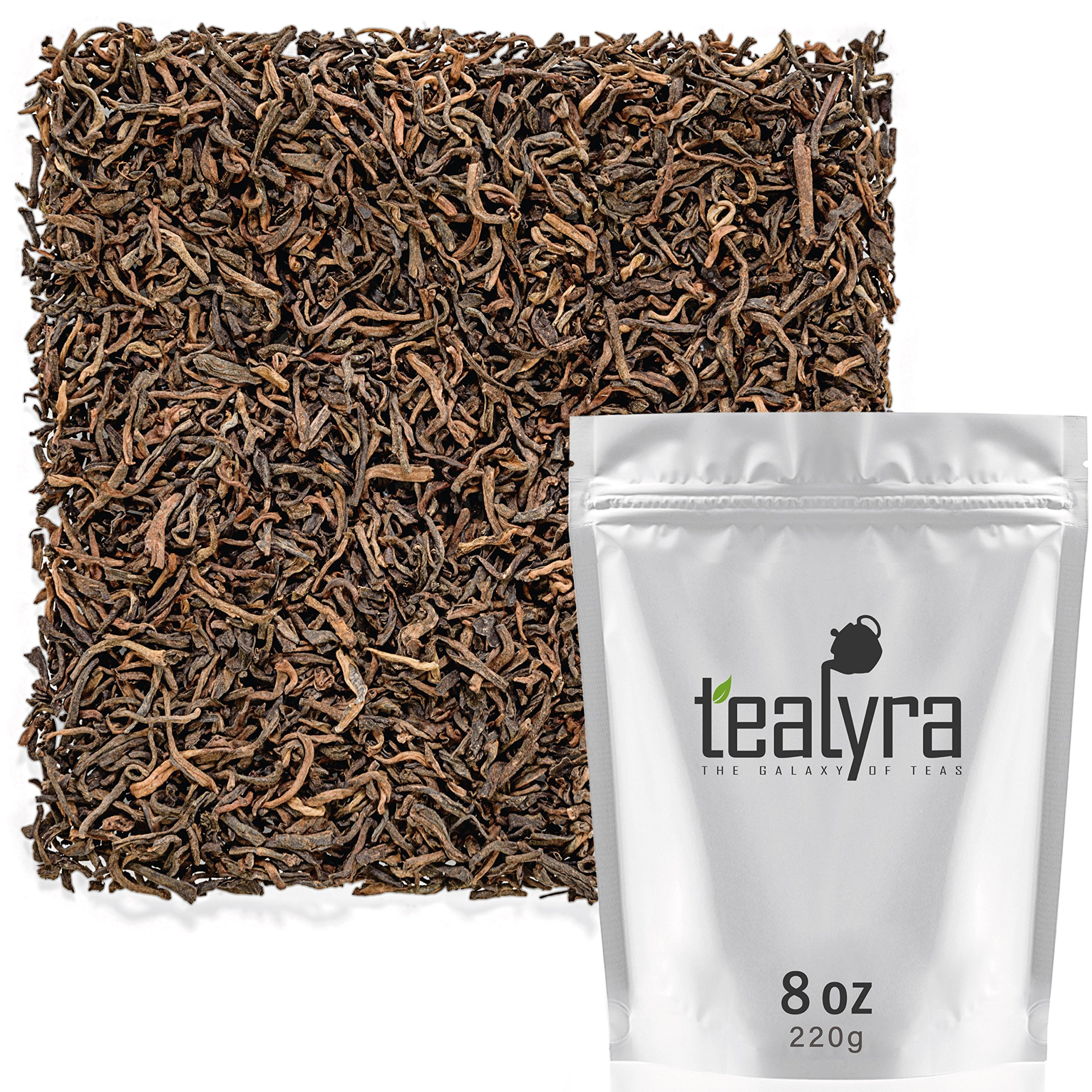 Tealyra - Ripe Pu'erh Tea - 20 Years Aged Loose Leaf from Yunnan - China - 100% Natural - Caffeine Level High - Weight Loss Tea - Aged Black Tea Pu Er - 220g (8-ounce)