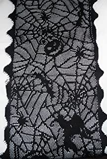 nantucket home halloween spider web lace table runner