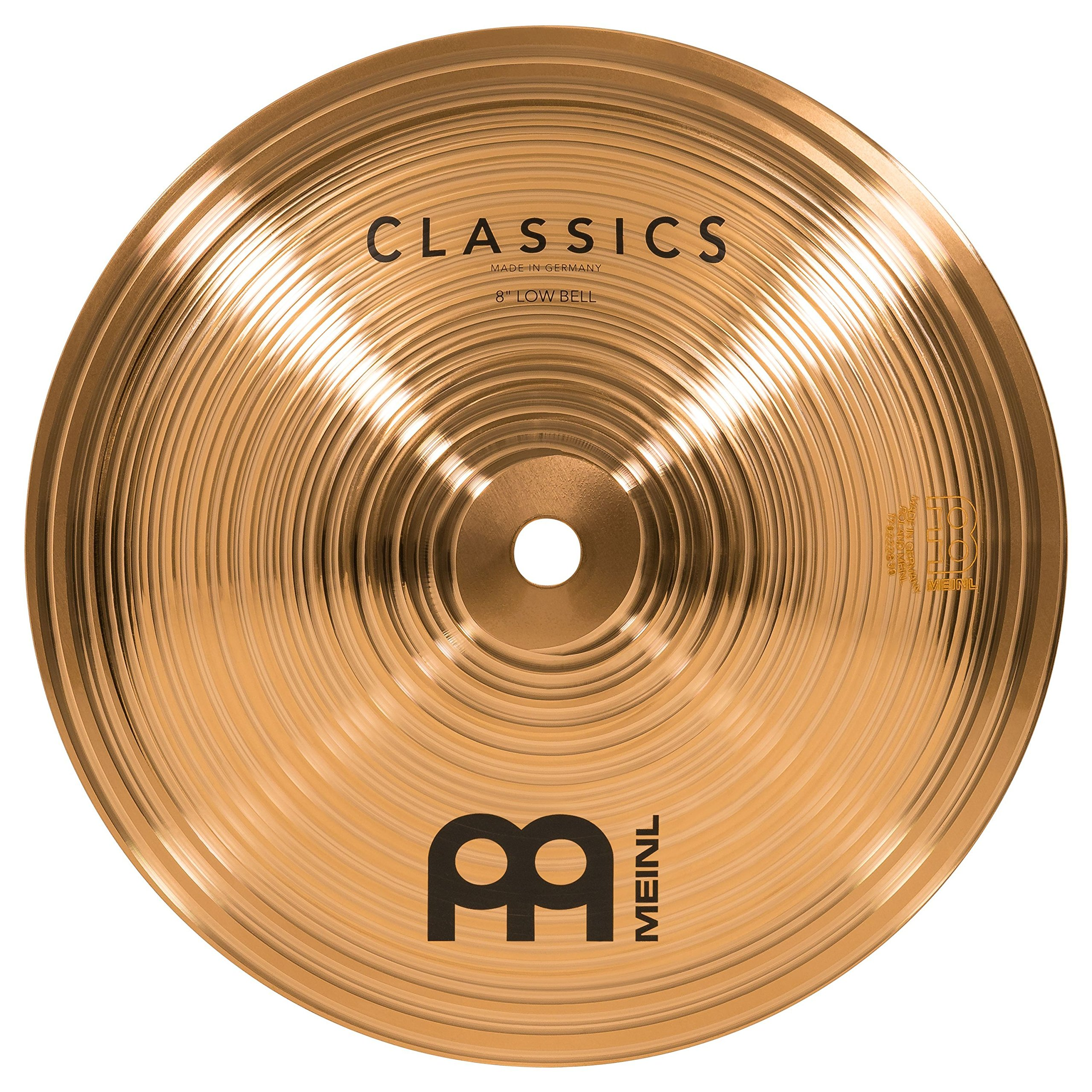 Meinl 8'' Low Bell - Classics Traditional - Made in Germany, 2-YEAR WARRANTY (C8BL)