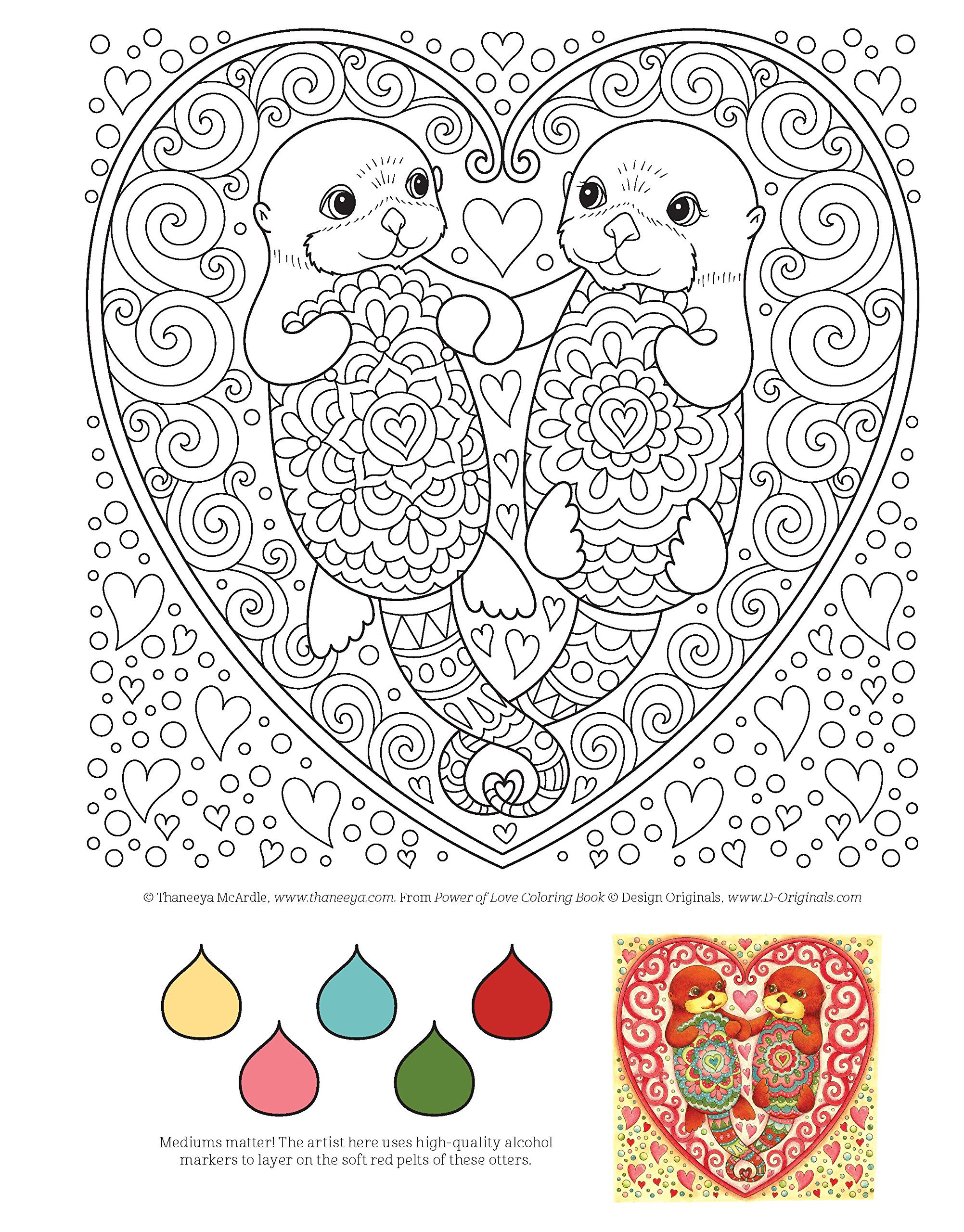 Amazon Power Of Love Coloring Book Is Fun Design Originals 32 Sweet Romantic Beginner Friendly Creative Art Activities From Thaneeya