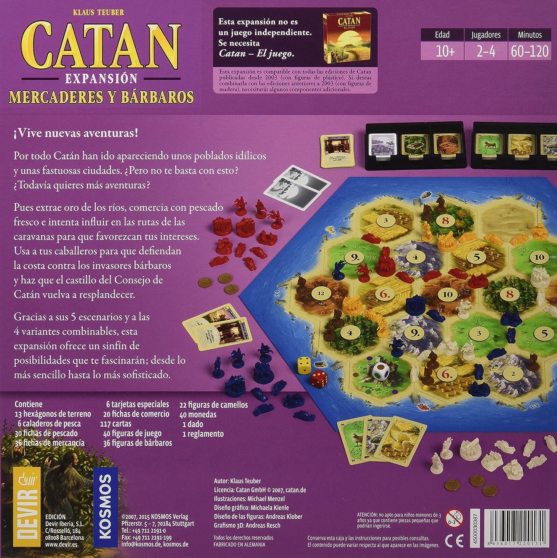 Amazon.com: Catan Devir Expansion Merchants and Bárbaros ...