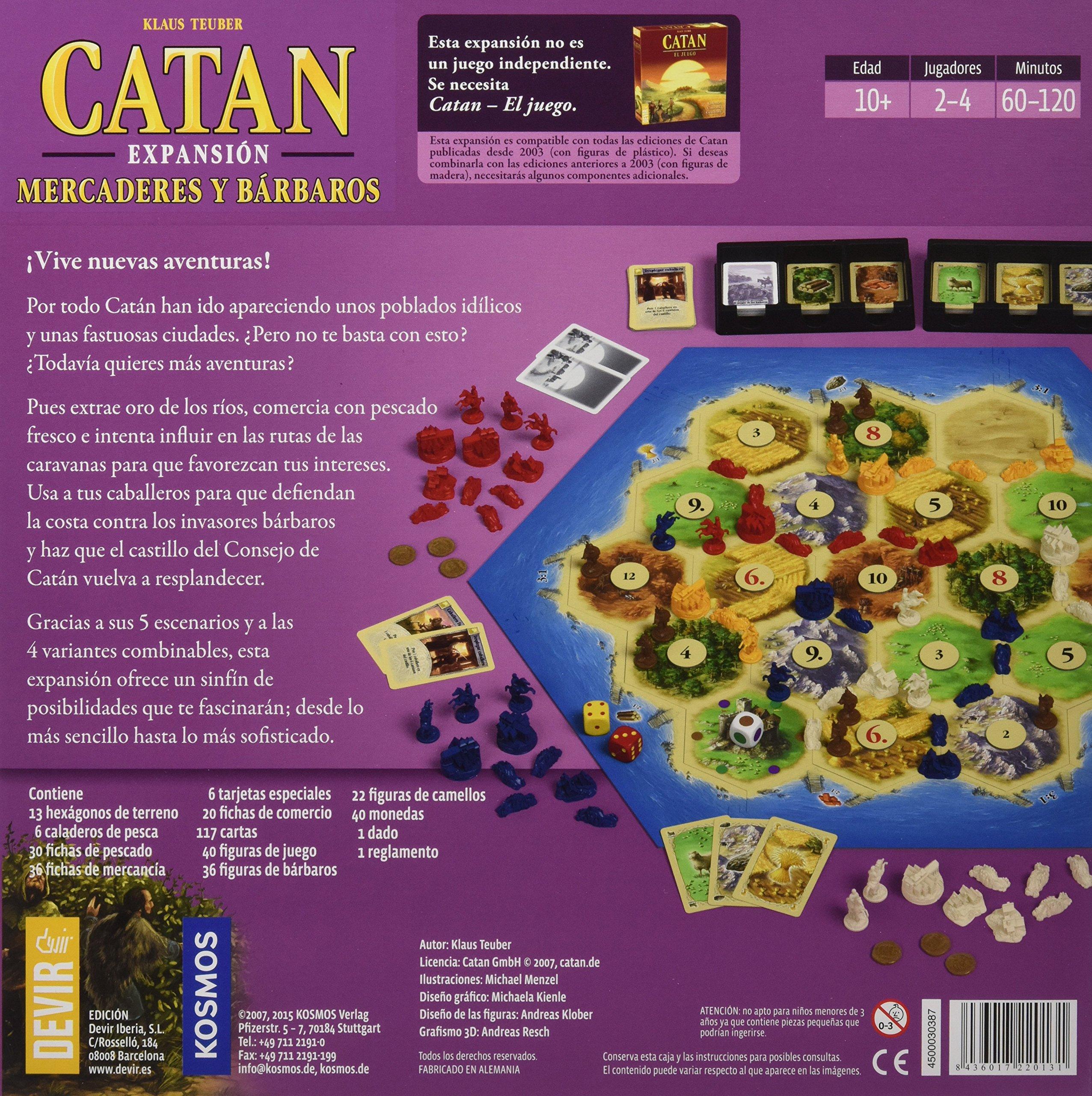 Comprar Devir - Catan Expansión Mercaderes y Bárbaros, juego de mesa