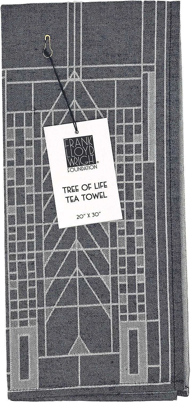 KAF Home Frank Lloyd Wright Woven Jacquard Tea Towel 20 x 30-inch 100-Percent Cotton (Tree of Life)