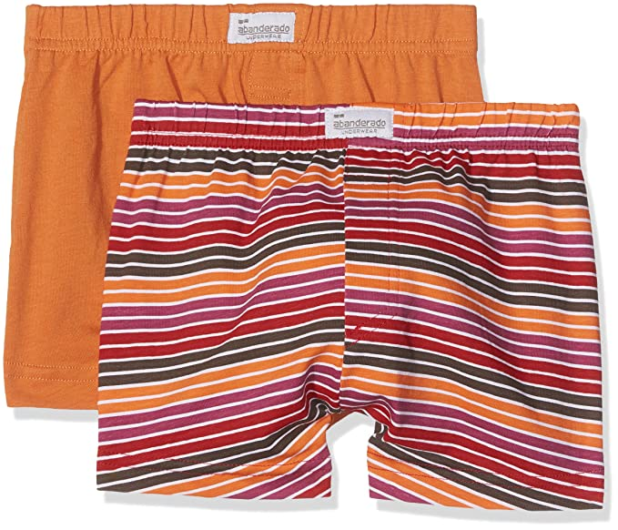 Abanderado Pack x 2 Bóxers Naranja/Rojo / Verde 2 años (92 cm)