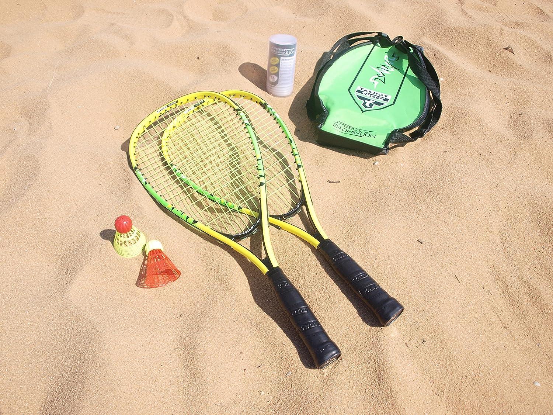Talbot Torro Speed 4000 Badminton Set Nero//Verde