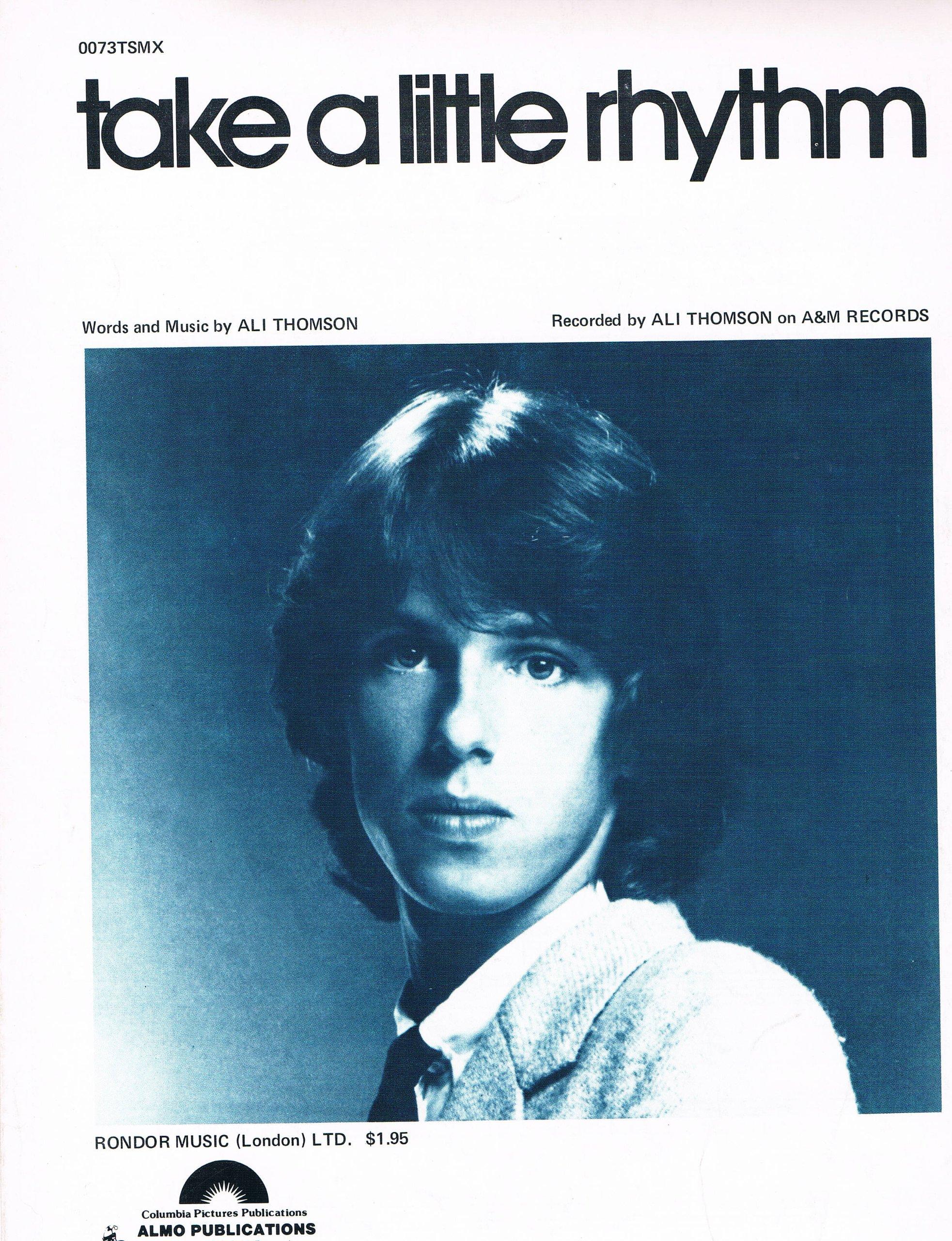 Take A Little Rhythm - Ali Thomson: Words and Music by Ali Thomson:  Amazon.com: Books