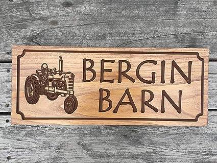 Amazon.com: Letrero personalizado de madera impresa placa de ...