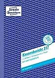 AVERY Zweckform 317 Kassenbericht (A5, mit 1 Blatt Blaupapier, 2x50 Blatt) weiß/gelb