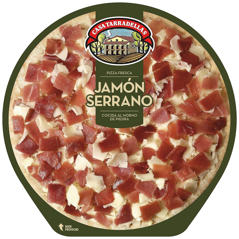 Casa Tarradellas - Pizza Fresca Jamón Serrano, 390 g: Amazon.es ...