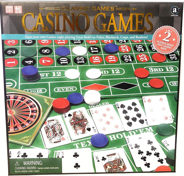 Amazon Com Ambassador Classic 4 In 1 Casino Games Sports Outdoors