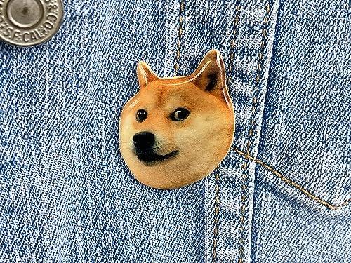 Amazon Com Doge Shiba Inu Dog Meme Badge Pin 1 25 Handmade