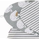 Stillkissenbezug für Stillkissen 190cm in verschiedenen Farben und Designs von HOBEA-Germany, Modell:Elefanten