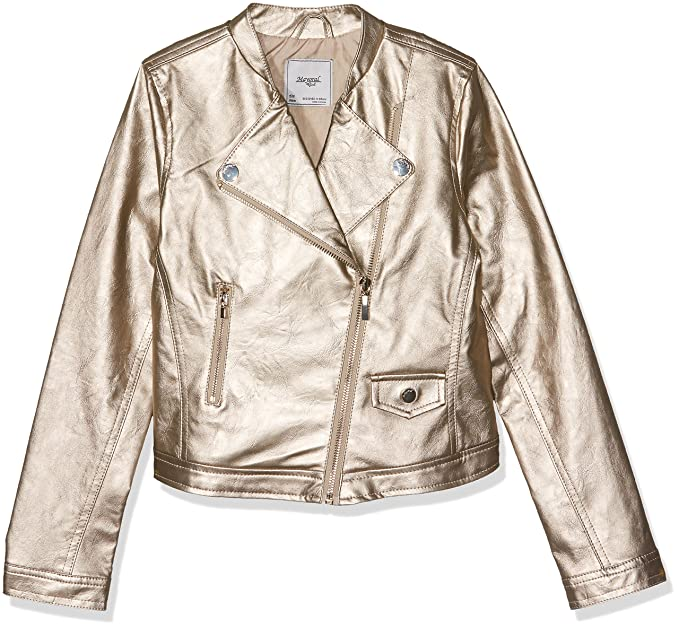 Amazon.com: Mayoral Junior Girls Gold Pleather Jacket, Sizes 8-18 - 8: Clothing