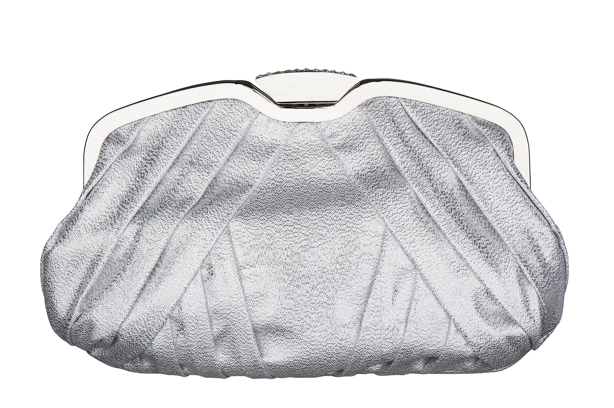Carlo Fellini Inti Evening Bag (N 685) (Silver Lame)