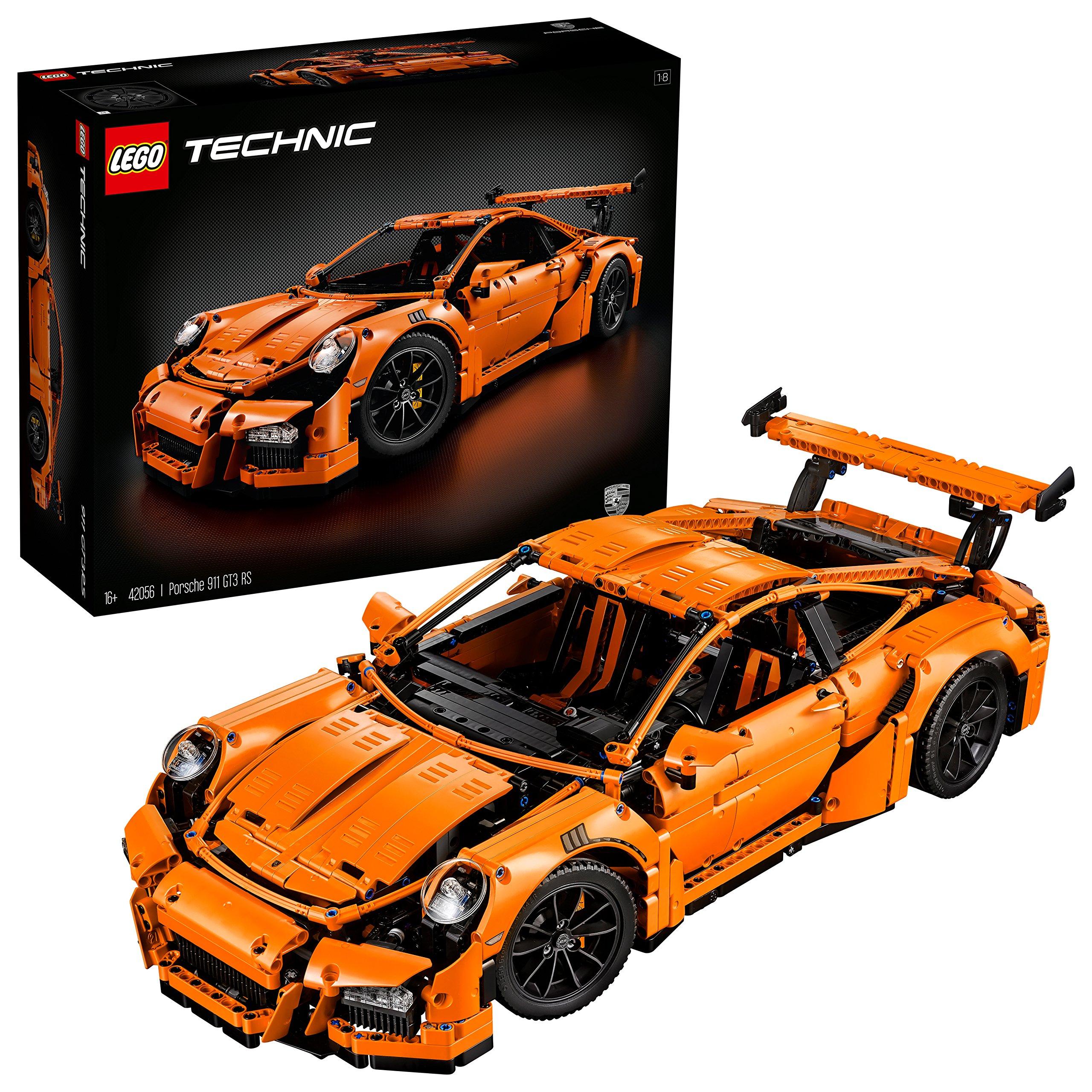 """2704 Pieces, Gearbox, Working Steering Wheel Porsche Building Toy, 6""""H x 22""""L x 9""""W"""