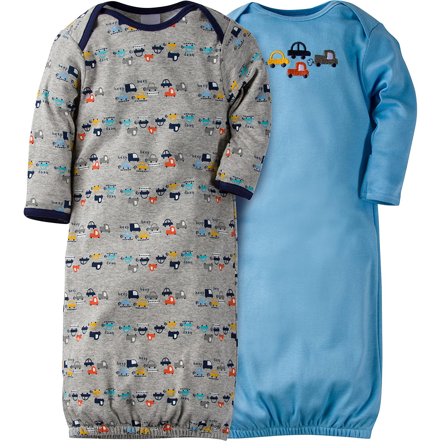 Amazon.com: Gerber Baby Boys 2 Pack Gown, Cars, 0-6 Months: Clothing