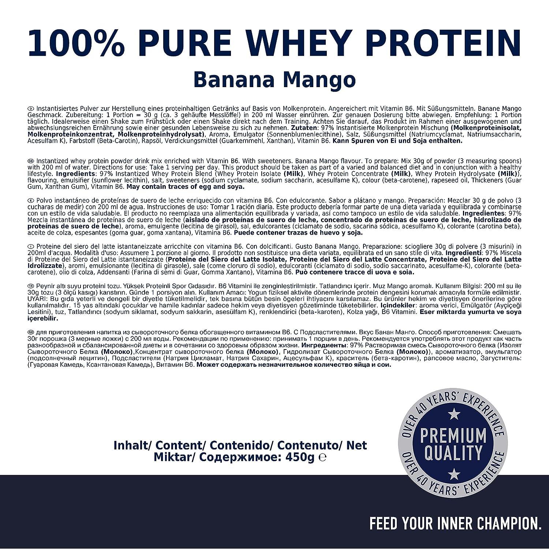 Multipower 100% Whey Protein Banana Mango - 450 gr: Amazon.es: Salud y cuidado personal