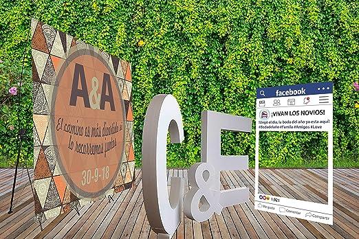 Oedim Pack Photocall Letras de Corcho Porexpan 100x 10cm de Grosor | Photocall Flexible 100% Personalizado Soporte X 160x200cm | Photocall Facebook 100x80cm: Amazon.es: Hogar