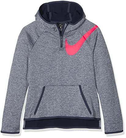 Nike HZ Sudadera, niñas, Azul (Thunder Blue) / Rosa (Racer Pink
