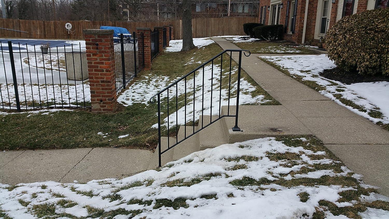 Brick or Paver Steps Iron X Handrail Picket #3