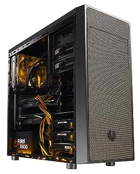 BitFenix Neos Window Midi-Tower Negro, Oro carcasa de ordenador - Caja de ordenador