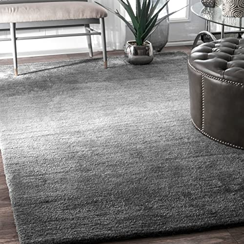 nuLOOM Bernetta Hand Tufted Ombre Area Rug, 3 x 5 , Grey