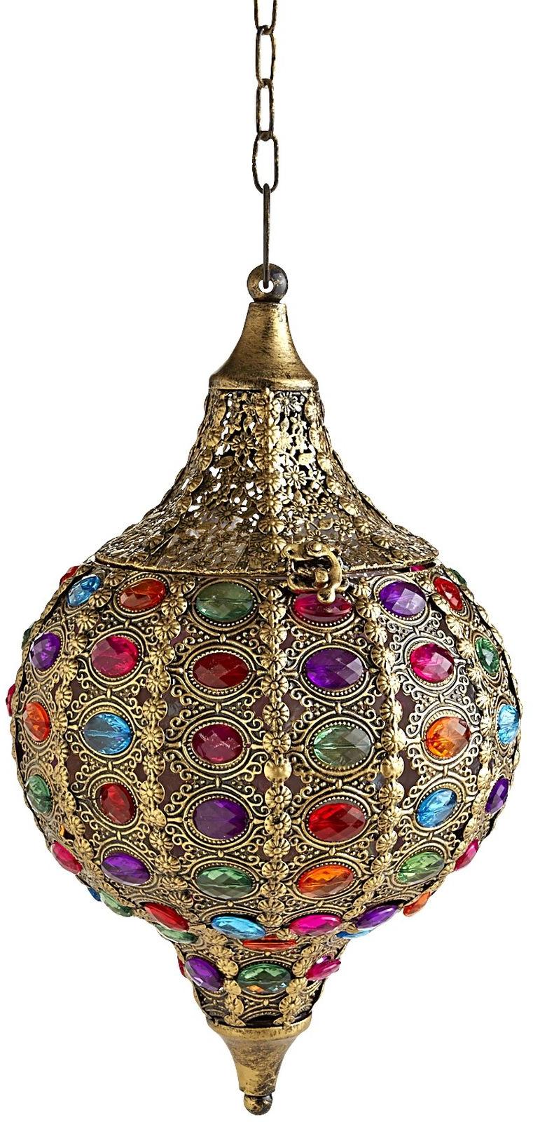 Caravan Gem Hanging Lantern - Gold | Pier 1 Imports
