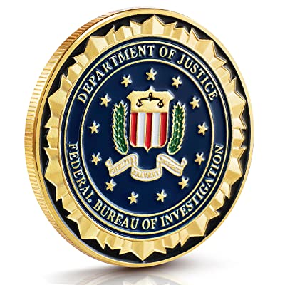 FBI Challenge Coin Collection - Gold Plated Challenge Coins, Stunning Detailing: Toys & Games