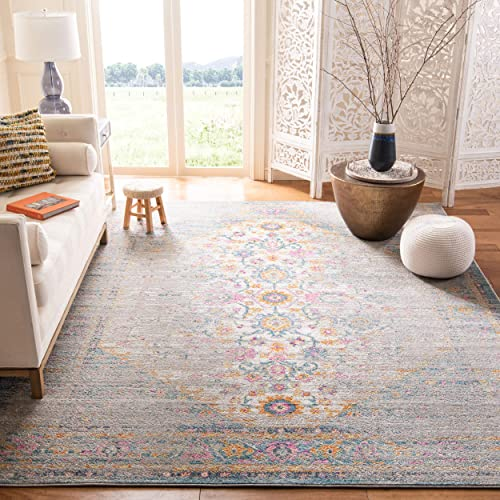 Safavieh Madison Collection MAD122G Boho Chic Distressed Non-Shedding Stain Resistant Living Room Bedroom Area Rug