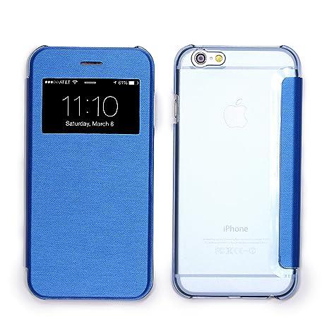 b56677cee85d URCOVER Coque Protection Avec Arrière Transparent View Case   Cover avec  Fenêtre pour Apple iPhone 6