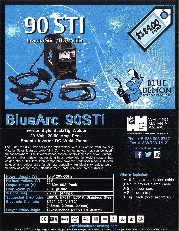 Blue Demon BLUEARC-90STI 90-Amp Inverter Style Stick and Tig Welding ...