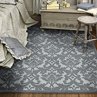 """product image for Orian Rugs Boucle' Devonshire Harbor Area Rug, 5'2"""" x 7'6"""", Blue"""