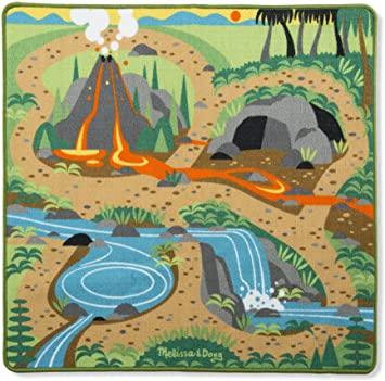 Melissa & Doug Prehistoric Playground Dinosaur Activity Rug